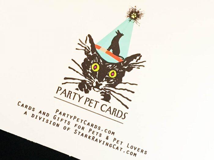 Happier Than Kittens Birthday Card back