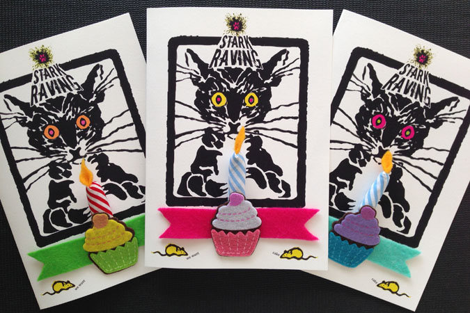 Catnip Candle Birthday Card