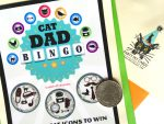 Cat Dad Scratch-Off Bingo Card