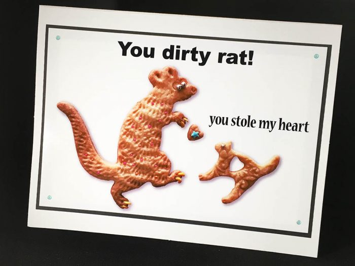 You Dirty Rat Greeting Card