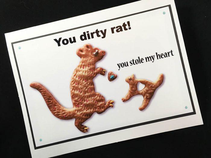 You Dirty Rat Greeting Card