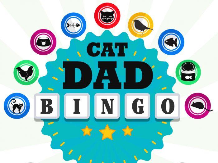 Cat Dad Scratch-Off Bingo Card