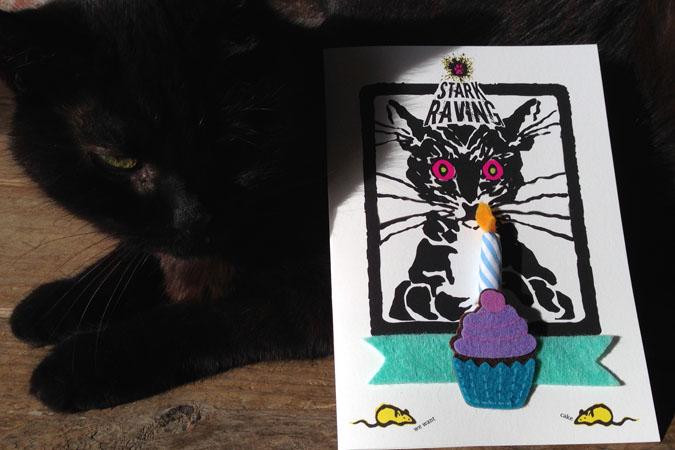 Catnip Candle Birthday Card